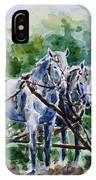 Harnessed Horses IPhone Case