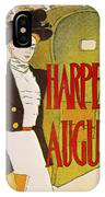 Harpers August 1897 IPhone Case