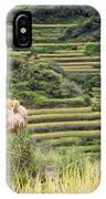 Harvest Season In Rice Field IPhone Case