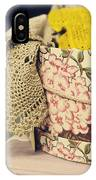 Hatbox Of Lace IPhone Case