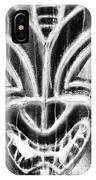 Hawaiian Mask Negative Black And White IPhone Case