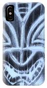 Hawaiian Mask Negative Cyan IPhone Case