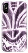Hawaiian Mask Negative Pink IPhone Case