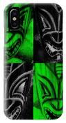 Hawaiian Masks Black Green IPhone Case