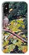 Hawk On A Limb IPhone Case