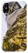 Hawk Owl Pictures 8 IPhone Case