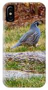 Quail Scout IPhone Case