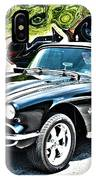 Chevrolet Corvette Vintage With Curly Background IPhone Case