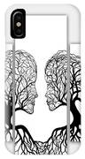 He And She In Love Triptych Acrylic On Canvas IPhone Case