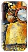 Headlight On A Retired Relic Abstract IPhone Case