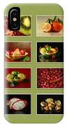 Healthy International Fruits Collection IPhone Case