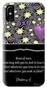 Heart And Love Design 14 With Bible Quote IPhone Case