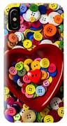 Heart Bowl With Buttons IPhone Case