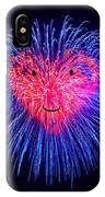 Heart Fireworks Face IPhone Case