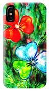 Heart Flowers IPhone Case