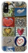 Heart Shape Collage  IPhone Case