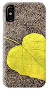 Heart Shaped Leaf On Pavement IPhone Case
