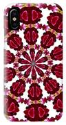 Hearts And Orchids Kaleidoscope IPhone Case