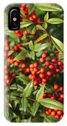 Heavenly Bamboo Red Berries IPhone Case