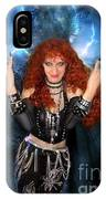Heavy Metal Fashion. Sofia Metal Queen. Blue Fire Storm. The Power IPhone Case