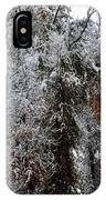 Heavy Snow On Fall Trees IPhone Case