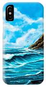 Heceta Head Lighthouse Oregon Coast Original Painting Forsale IPhone Case
