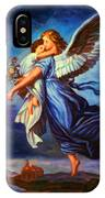 Heiliger Schutzengel  Guardian Angel 7 Oil IPhone Case