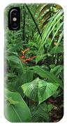 Heliconia And Palms With Green Anole IPhone Case
