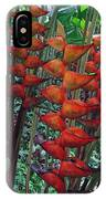 Heliconia Haven IPhone Case