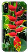 Heliconia Rostrata 2 - A Blooming Heliconia Rostrata Flower IPhone Case