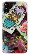 Help Children Read With Book Marks Hand Painted Two IPhone Case