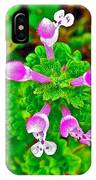 Henbit At Chickasaw Village Site At Mile 262 Of Natchez Trace Parkway-mississippi IPhone Case