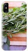 Herbs On Cutting Board IPhone Case