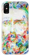 Herman Melville Watercolor Portrait.1 IPhone Case
