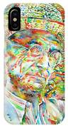 Hermann Hesse With Hat Watercolor Portrait IPhone Case