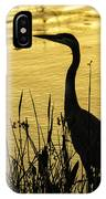 Heron At Sunrise IPhone Case