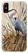 Heron In Tall Grass IPhone Case