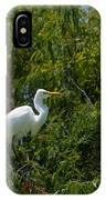 Heron In Tree IPhone Case