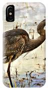 Heron On A Cloudy Day IPhone Case