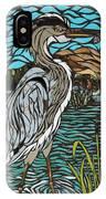 Heron On Connor Creek IPhone Case