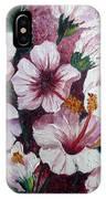 Hibiscus Pink 3  IPhone Case