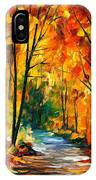 Hidden Emotions - Palette Knife Oil Painting On Canvas By Leonid Afremov IPhone Case