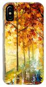 Hidden Path - Palette Knife Oil Painting On Canvas By Leonid Afremov IPhone Case