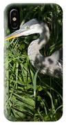 Hiding Blue Heron IPhone Case