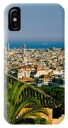 High Angle View Of A City, Barcelona IPhone Case
