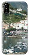 High Angle View Of A Town, Amalfi IPhone Case