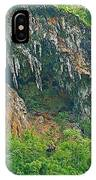 High Cliffs Along River Kwai In Kanchanaburi-thailand IPhone Case