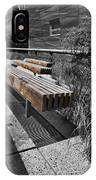 High Line Benches Black And White IPhone Case