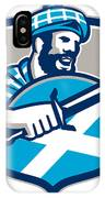 Highlander Scotsman Sword Shield Retro IPhone Case