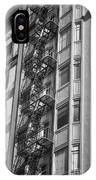 Highrise Fire Escape Bw IPhone Case